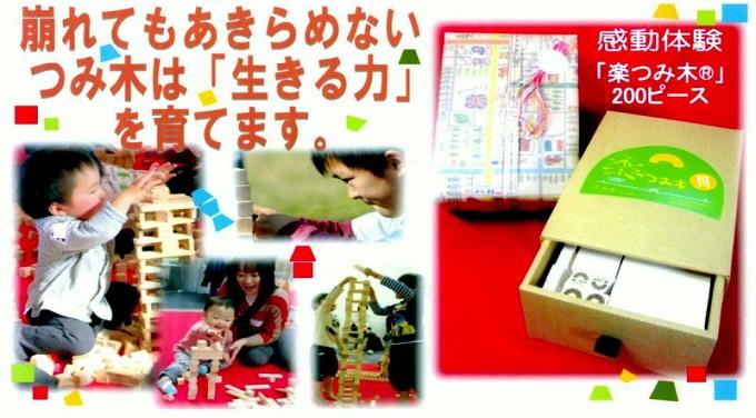 ご出産祝い・お誕生日のプレゼントに「楽つみ木®」はいかが??
